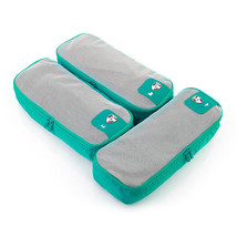 Heys Pack ID 3 pc Slim Packing Cube Set Teal 30072-0049-00 - $377,46 MXN