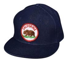 California Bear Hat by LET'S BE IRIE - Blue Denim Snapback - £16.59 GBP