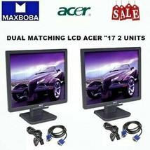 "Dual Acer Monitor 17"" LCD Matching Screen AL1716F Desktop Display VGA - $79.99"