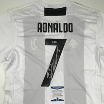 Autographed/Signed CRISTIANO RONALDO Juventus White Soccer Jersey Becket... - $449.99