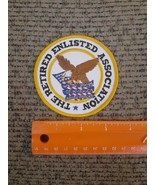 The Retired Enlisted Association Iron on Patch NEW United States Armed F... - $19.60