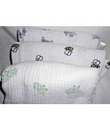 Aden + Anais Muslin Cotton Receiving Baby Blanket Lot 3 Monkeys Elephant... - $21.66