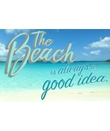 The Beach Is Always A Good Idea Funny Cool Wall Decor Art Print Poster F... - $23.33+