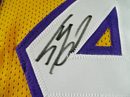 SHAQUILLE O'NEAL / AUTOGRAPHED LOS ANGELES LAKERS YELLOW CUSTOM JERSEY / JSA COA image 4
