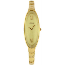 Seiko Women's SUJD84 Stainless Steel Analog With Gold Dial Watch - $133.65