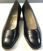 new salvatore ferragamo women's shoes size 8b croc embossed pumps made i... - $148.67