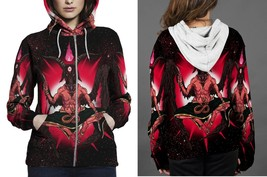 [Brand New For Women] The Red Devil Satanic Zipper Hoodie - $48.99+