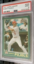 2001 Topps Chrome Albert Pujols #596 RC PSA 9 Mint - $249.99