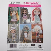 """Simplicity 12"""" BLYTHE Doll Clothes Pattern 2353 New and UnCut - Hard to ... - $28.04"""