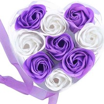 Scented Rose Flower Petal Bath Body Soap Wedding Party Gift(Purple+White... - $6.99