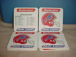 BUFFALO BILLS 1996 BUDWEISER BUD LIGHT COASTER NEW! FREE USA SHIPPING - $3.99