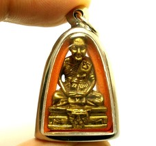 LP PERN LIFE PROTECTION TIGER MUAY THAI FIGHTER MAGIC REAL AMULET BUDDHA... - $37.49