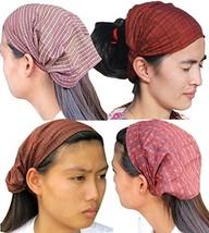 RaanPahMaung Thai Silk Crumpled Bandanna WashMaids Hairtie - Mix Of 3 Pcs - $14.49