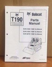 Bobcat T190 Turbo Skid Steer Parts Manual Book 6901352 - $48.76+