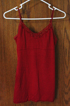 SO Red Tank Top with Bead Accent - Size Juniors Medium - $11.99