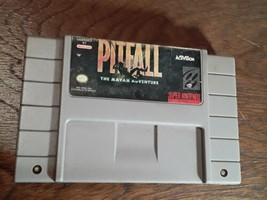 Super Nintendo SNES Pitfall The Mayan Adventure Video Game Cleaned & Tested NICE - $9.70