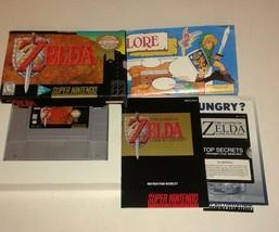 The Legend of Zelda: A Link to the Past (Super Nintendo, 1992) Complete ... - $112.16