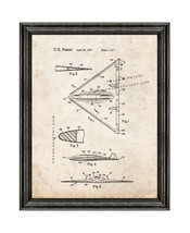 Aircraft Of Low Observability Patent Print Old Look with Black Wood Frame - $24.95+