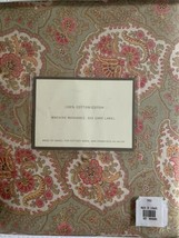 Pottery Barn Twin Duvet Cover Olive Paisley Cotton - $107.91