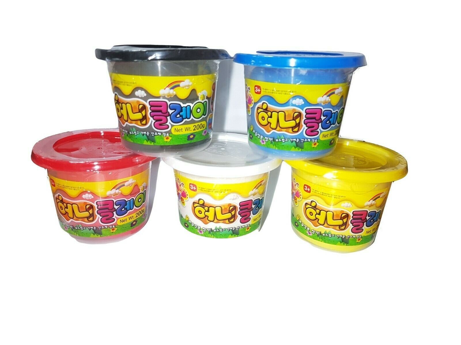 Donerland Honey Clay 5-Color Set 0.4lbs 200g (Red, Blue, Yellow, White, Black)