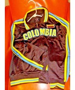 Men's COLUMBIA Style Soccer Jacket Size XL BLACK-YELLOW-BLUE GHAST Brand - $14.85