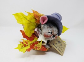 "1994 10"" Annalee Pilgrim Boy Mouse in a Cornucopia in Box - $32.99"