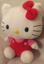 Ty Beanie Buddies 2011 Sanrio Hello Kitty Plush Red Overalls Stuffed Ani... - $14.99