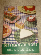 Cox's New Simple Recipes, What to do with gelatine - circa 1940's - $4.50