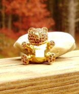 Vintage Trifari Teddy Bear Pendant Brooch Figural, 1996 Limited Edition - $50.00