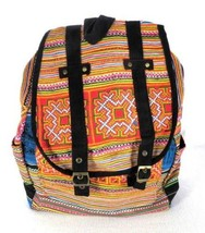 Dr Doc Martens Weekender Rucksack Backpack Rainbow Cotton Suede Embroidered - $79.15