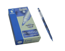 P-500 BL-P50 0.5mm Extra Fine BallPoint Pen (Pack of 12),Blue Ink, Pilot - $25.99