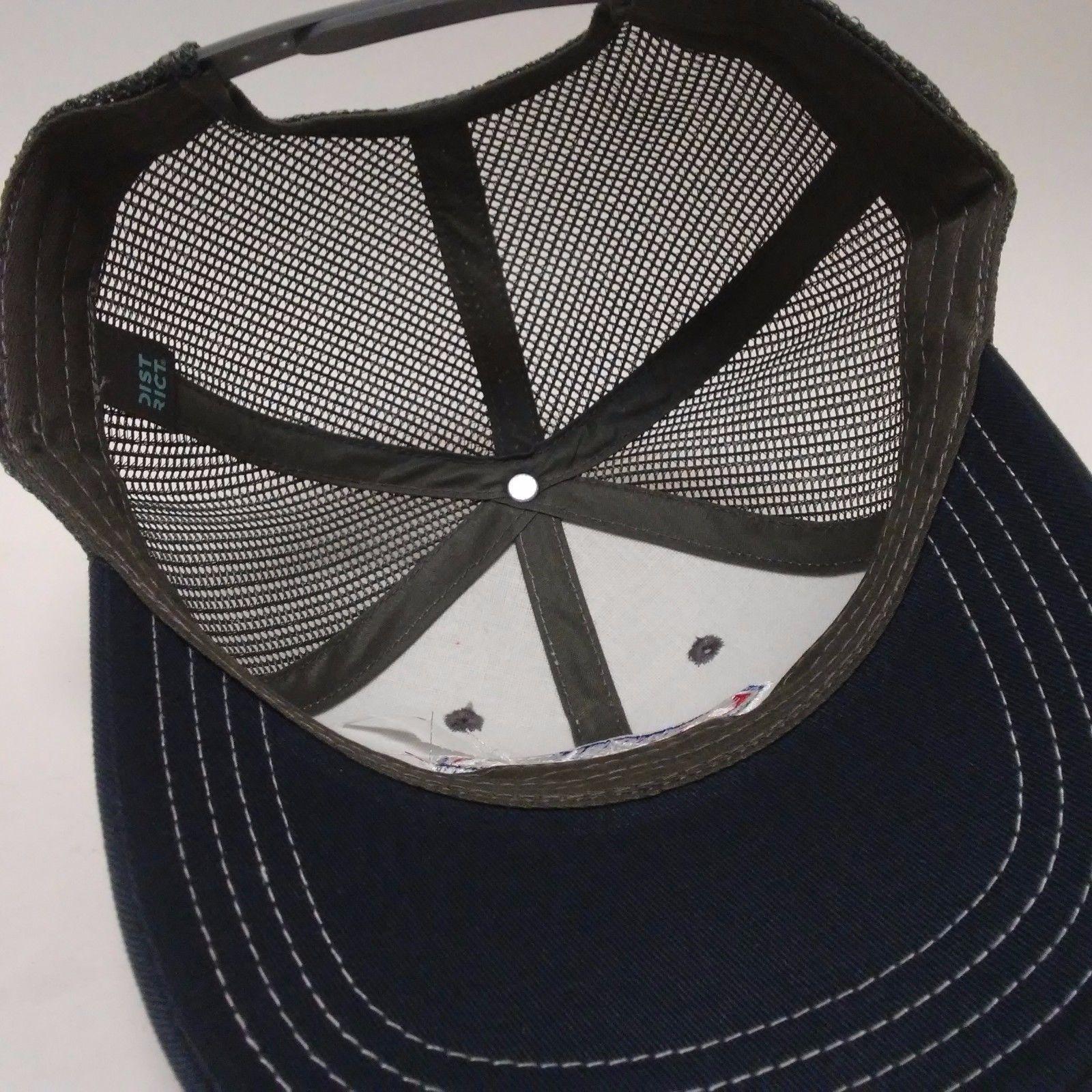 toyota vintage old logo gray blue trucker hat cap snapback