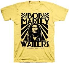 Bob Marley Vintage Concert Yellow Classic Reggae Music Art Mens T Shirt ... - $19.90+