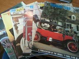 "Lot of 6 The Vintage Ford Magazines 1969 Model ""T"" Club COMPLETE YEAR - $32.19"
