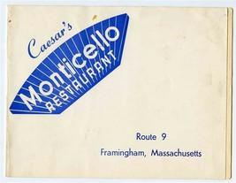 Caesar's Monticello McGuire Sisters Signed Photo Folder Framingham Massa... - $34.65