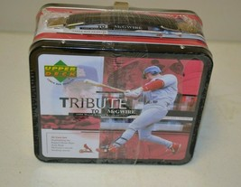 1999 UPPER DECK TRIBUTE TO MARK McGWIRE LUNCH BOX WITH 30-CARD SET FACTO... - $9.89