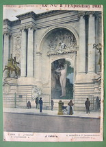 NUDE Paris Exposition at Trocadero Palace Exterior - COLOR Lichtdruck Print - $8.99