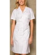 NWT Dickies Button Front WHITE Sexy Nurse Halloween Costume Scrub Dress ... - $35.45