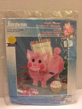 Janlynn Plastic Canvas Needlework Kit Pink Pig Memo Holder 32-36 NIP 199... - $10.39