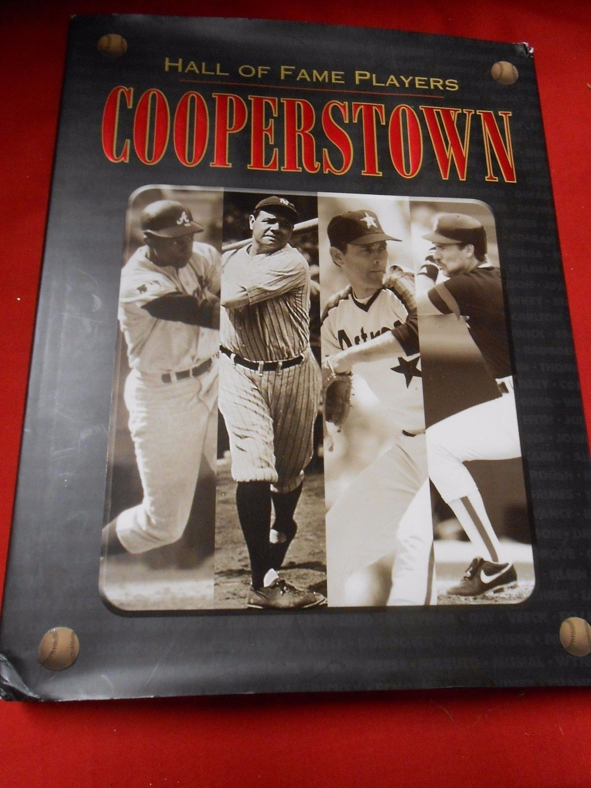 Primary image for Great BASEBALL Book- COOPERSTOWN The Hall of Fame Players...312 pages.......SALE