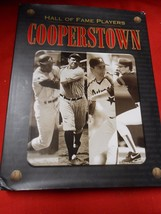 Great BASEBALL Book- COOPERSTOWN The Hall of Fame Players...312 pages...... - $13.86