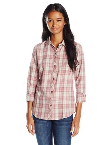 O'Neill Women's Shirt Birdie Flannel Long Sleeve Woven Plaid Marble