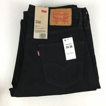 LEVI 550 Men's Relaxed Fit Denim Jeans Black Size 34x36 NWT - $30.84