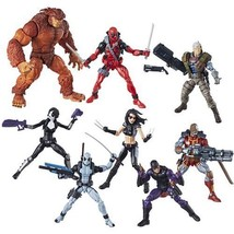 Deadpool Marvel Legends 6-Inch Action Figures Complete Set w/ Sasquatch BAF - $164.95