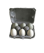 Cardboard Crate with Six Wooden Eggs - $26.73