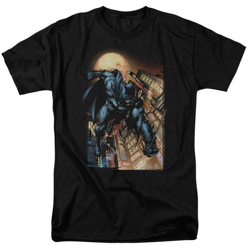 Bat man t shirt comic book cartoon dc modern art black superhero tee dcr100