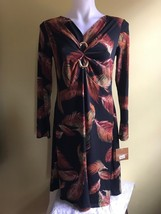 Ellen Tracy Women Dress Black / Brown Multi Size S  - $39.00