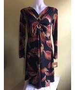 Ellen Tracy Women Dress Black / Brown Multi Size S  - $39.00