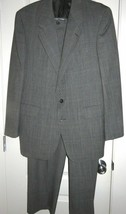 Evan Picone Gray 100% Wool Suit Size Jacket 42 Pants 32x29 - $23.76