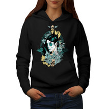 Death Skull Sweatshirt Hoody Girl Portrait Women Hoodie - $21.99+